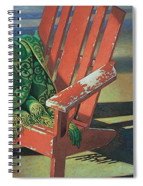Red Adirondack Chair Spiral Notebook