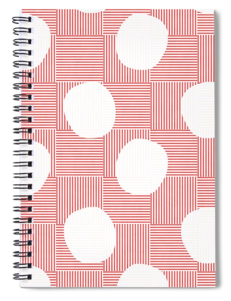 Red And White Poof  Spiral Notebook