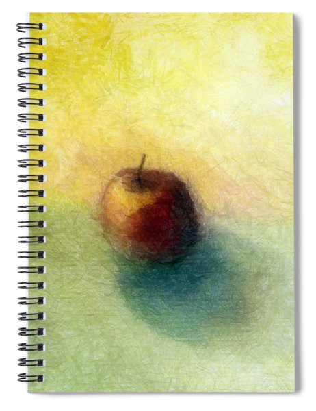 Red Apple No. 4 Spiral Notebook by Michelle Calkins