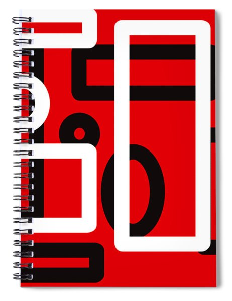 Red Back And White Design Spiral Notebook