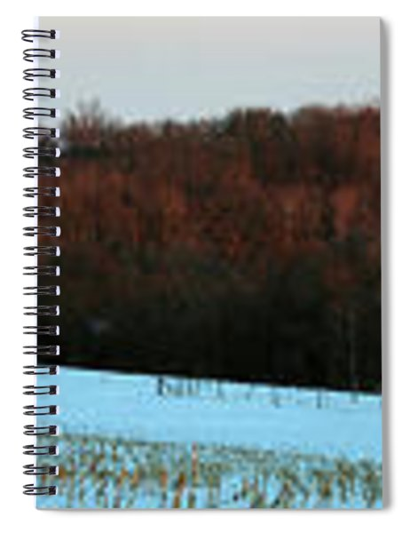 Red Barn In Winter After A Fresh Spiral Notebook