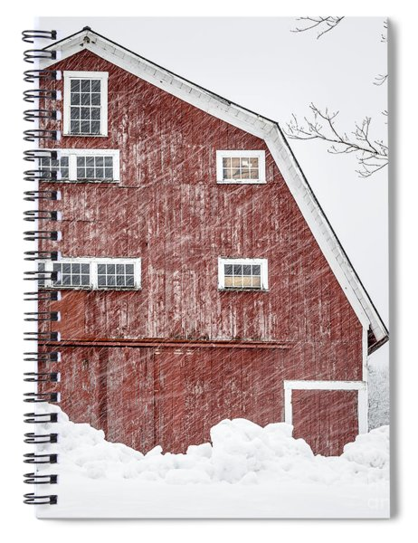 Red Barn Whiteout Spiral Notebook