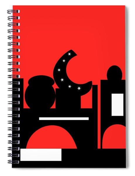 Red Bazaar Spiral Notebook
