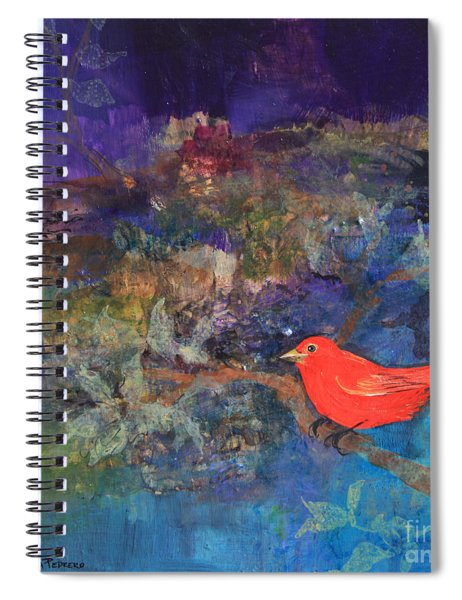 Red Bird Spiral Notebook