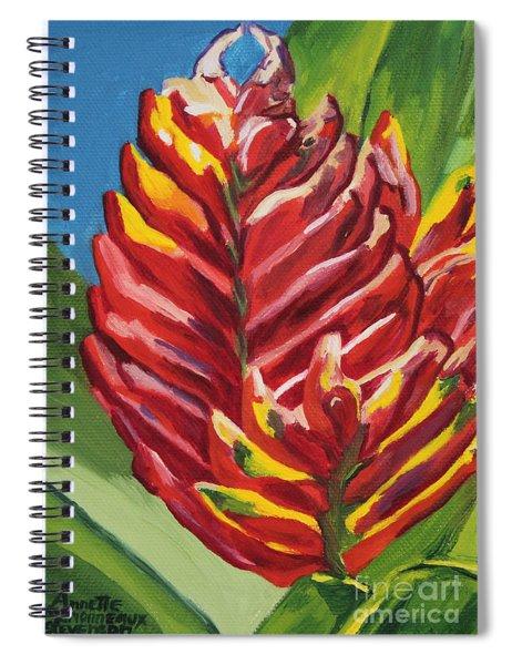 Red Bromeliad Spiral Notebook