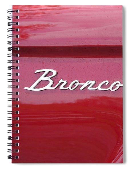 Red Bronco I Spiral Notebook