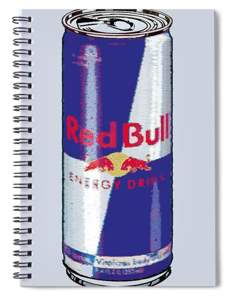 Red Bull Ode To Andy Warhol Spiral Notebook