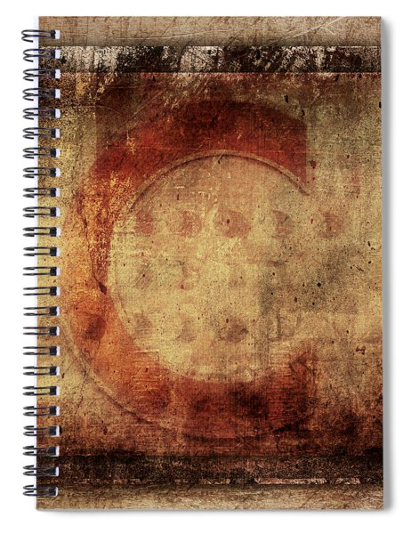 Red C Squares Spiral Notebook