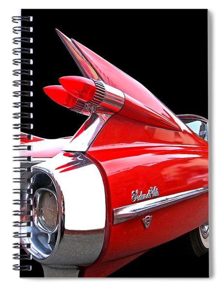 Red Cadillac Sedan De Ville 1959 Tail Fins Spiral Notebook