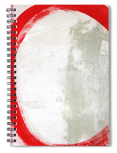 Red Circle 3- Abstract Painting Spiral Notebook