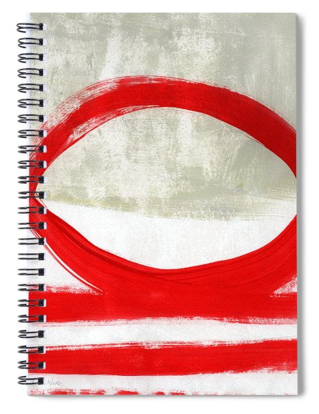 Red Circle 4- Abstract Painting Spiral Notebook