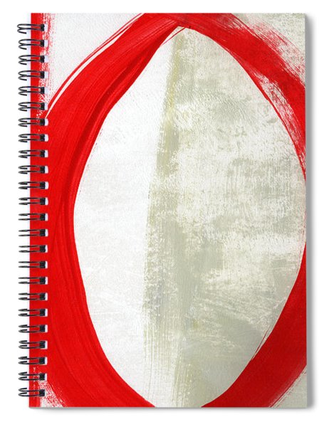 Red Circle 5- Abstract Painting Spiral Notebook