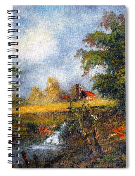 Red Cottage Spiral Notebook