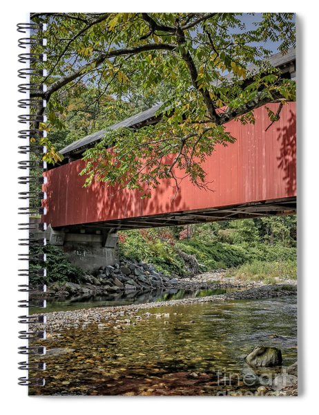 Red Covered Bridge Vermont 6 Spiral Notebook