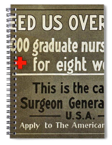 Red Cross Poster, C1914 Spiral Notebook