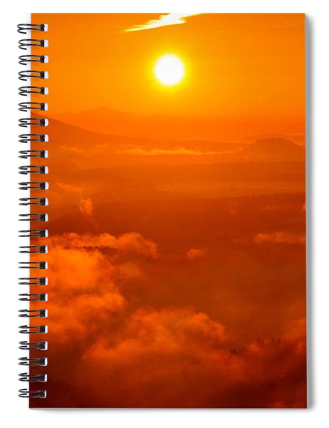 Red Dawn On The Lilienstein Spiral Notebook