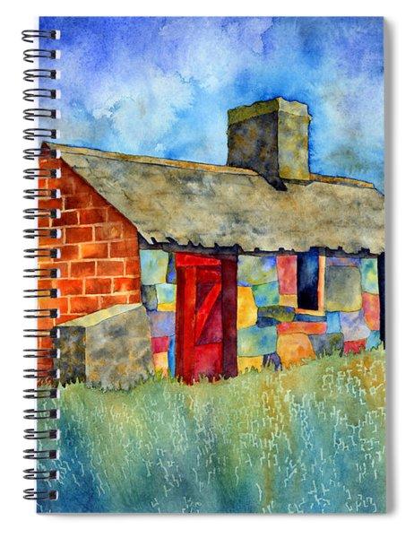 Red Door Cottage Spiral Notebook