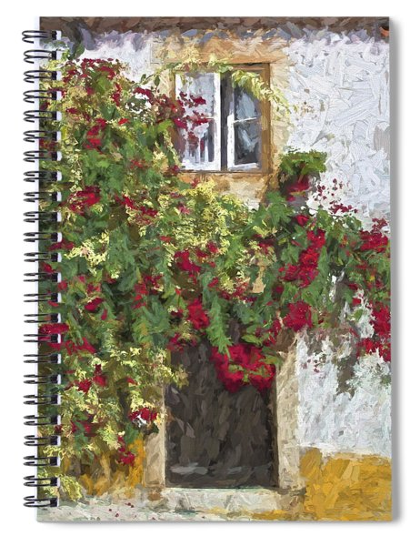 Red Flowers On Vine Spiral Notebook