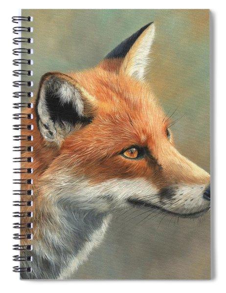 Red Fox Portrait Spiral Notebook