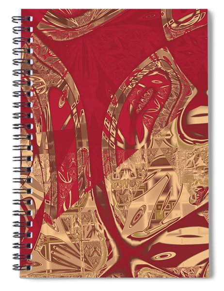 Red Geranium Abstract Spiral Notebook