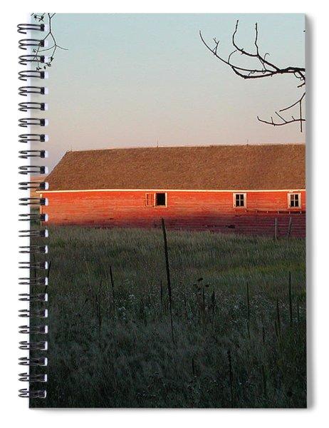 Red Granary Barn Spiral Notebook