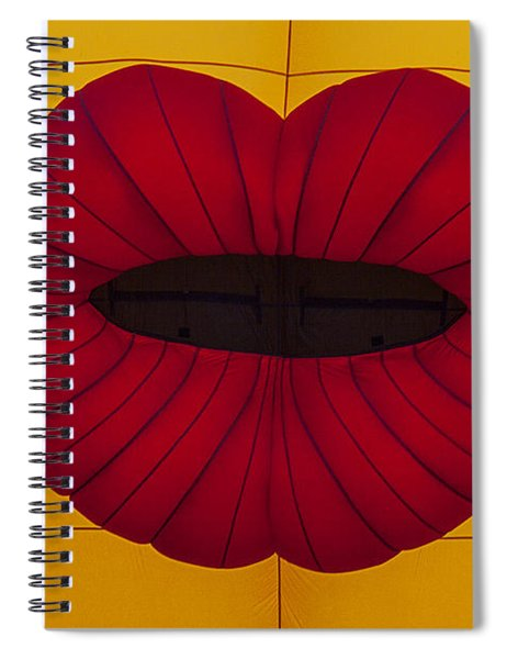 Red Graphic Lips Spiral Notebook