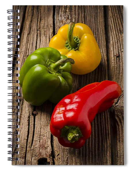 Red Green Yellow Peppers Spiral Notebook
