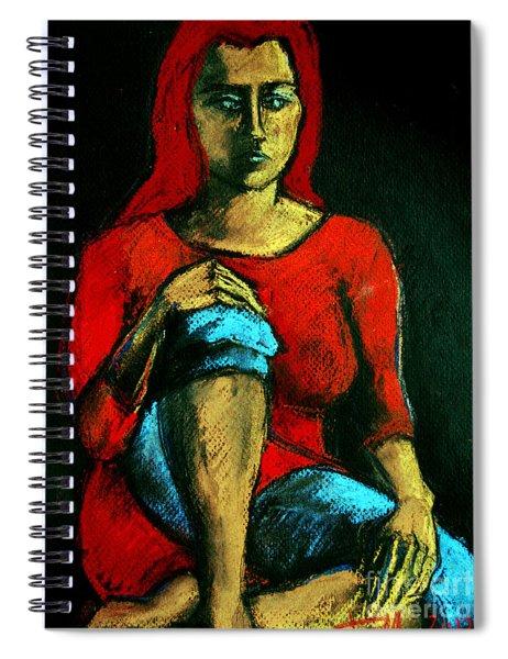 Red Hair Woman Spiral Notebook