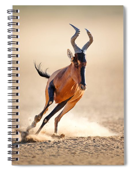 Red Hartebeest Running Spiral Notebook