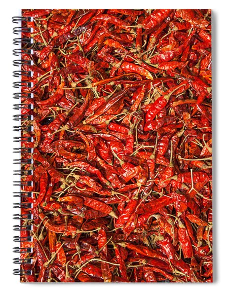 Red Hot Chillies Spiral Notebook