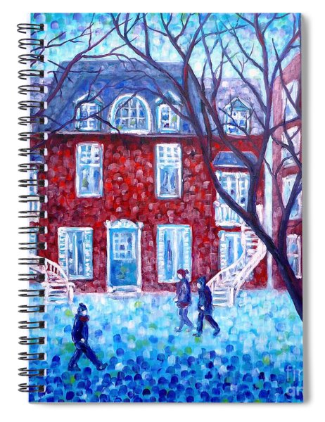 Red House In Montreal - Cityscape Spiral Notebook