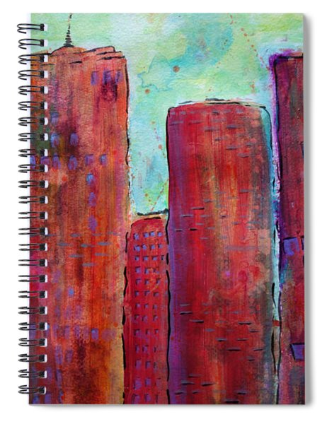 Red In The City Spiral Notebook