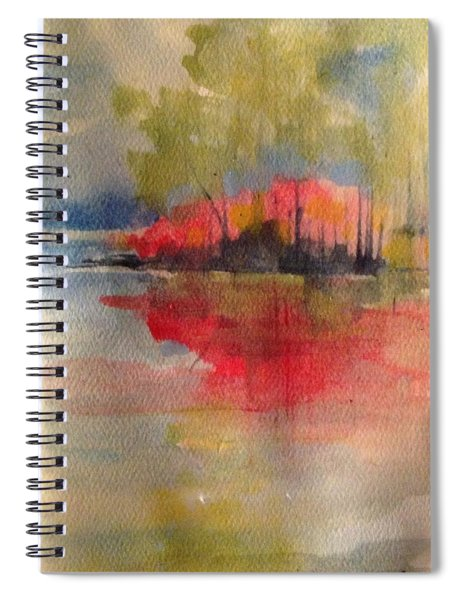 Red Lake Reflection #1 Spiral Notebook