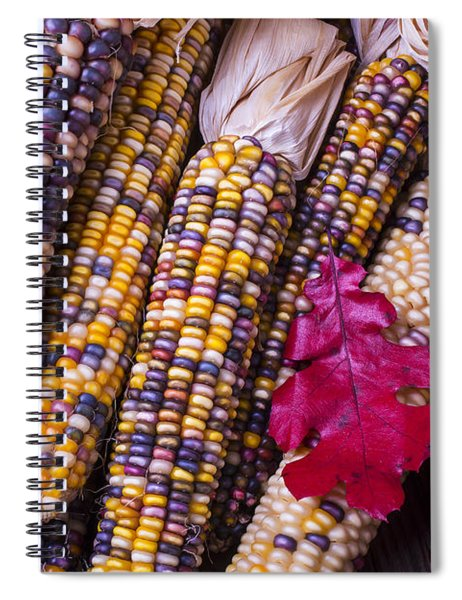 Red Leaf And Indian Corn Spiral Notebook