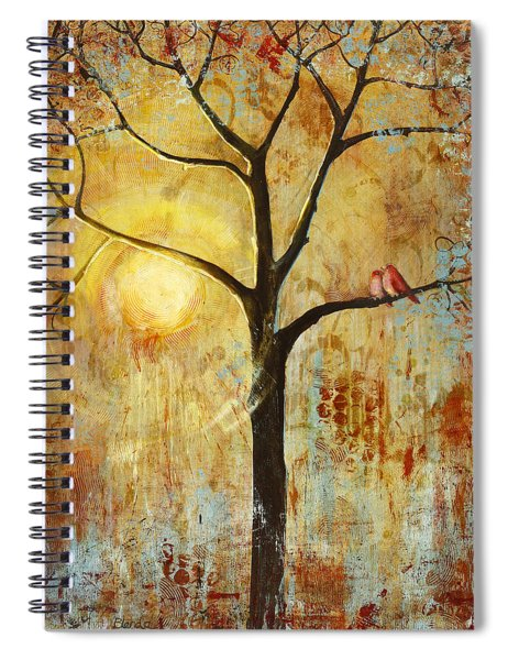 Red Love Birds In A Tree Spiral Notebook