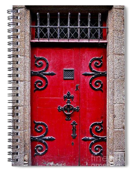 Red Medieval Door Spiral Notebook