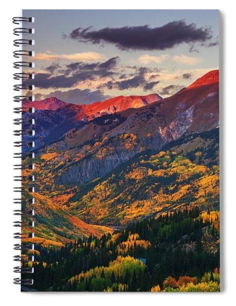 Red Mountain Pass Sunset Spiral Notebook