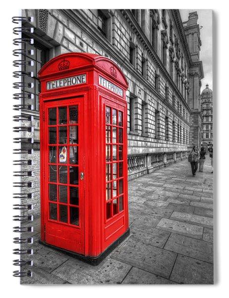 Red Phone Box And Big Ben Spiral Notebook