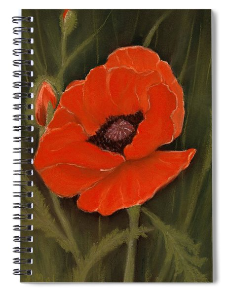 Red Poppy Spiral Notebook
