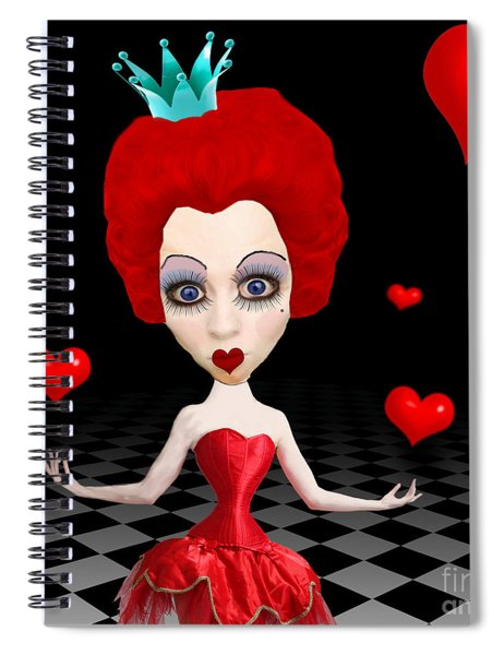 Red Queen Of Hearts Spiral Notebook