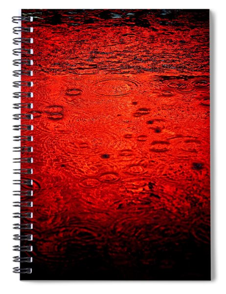Red Rain Spiral Notebook