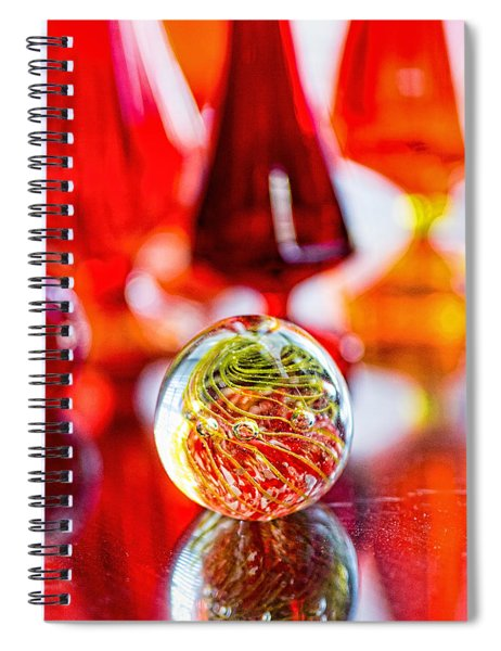 Red Reflections Spiral Notebook