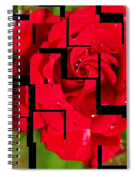 Red Rose Puzzle Spiral Notebook