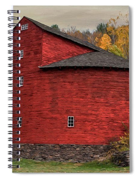 Red Round Barn Spiral Notebook