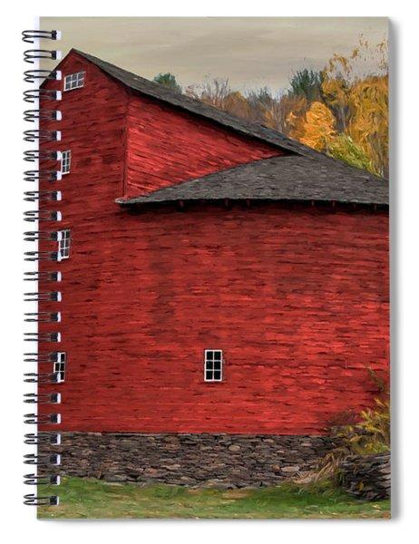 Red Round Barn Spiral Notebook