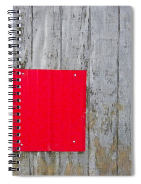 Red Square On A Wall Spiral Notebook