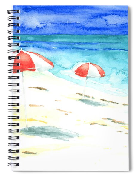 Red Stripes Spiral Notebook