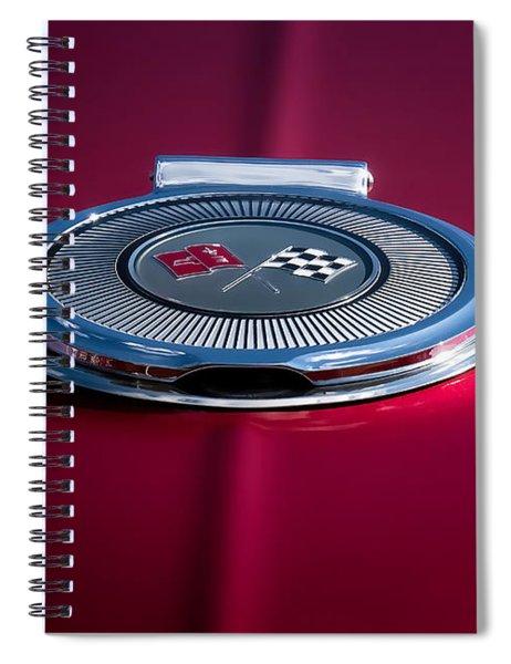 Red Sunburst Spiral Notebook