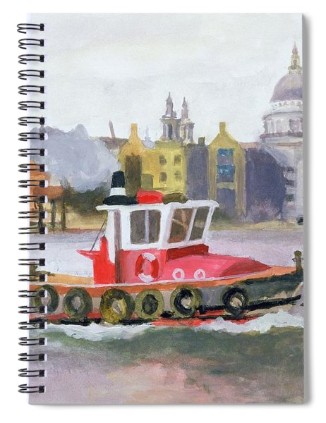 Red Tug Passing St. Pauls, 1996 Spiral Notebook