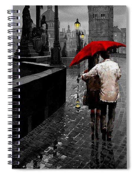 Red Umbrella 2 Spiral Notebook